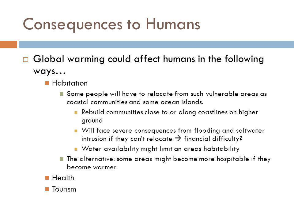 Consequences to Humans