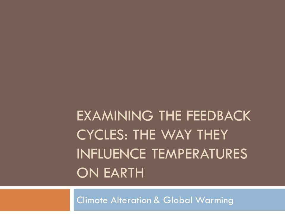 Climate Alteration & Global Warming