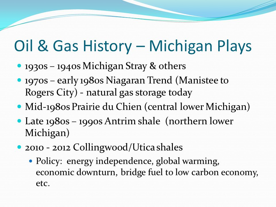 Oil & Gas History – Michigan Plays