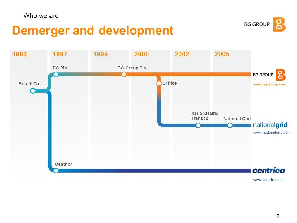 Demerger and development