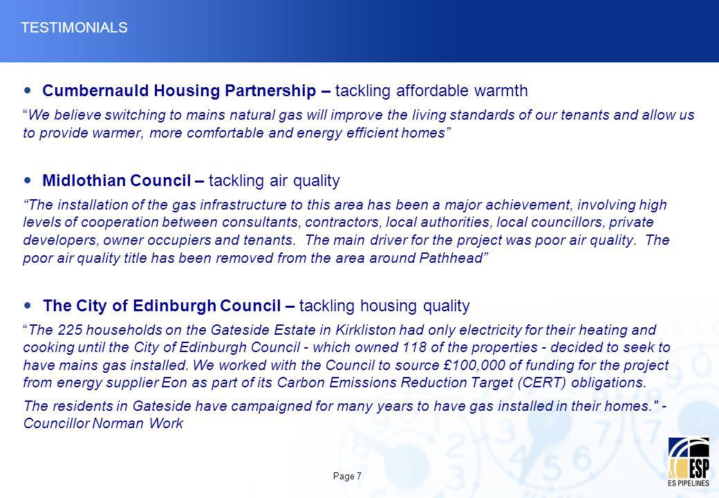Cumbernauld Housing Partnership – tackling affordable warmth