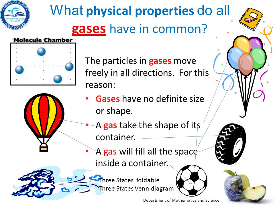 What physical properties do all gases have in common