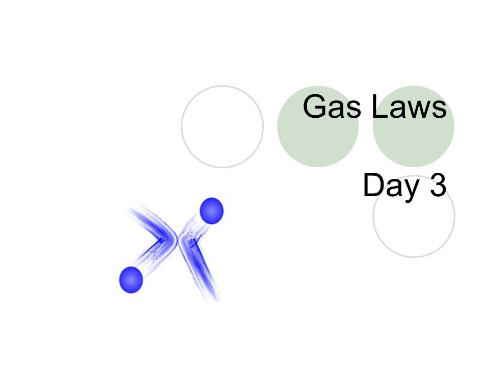 Gas Laws Day 3