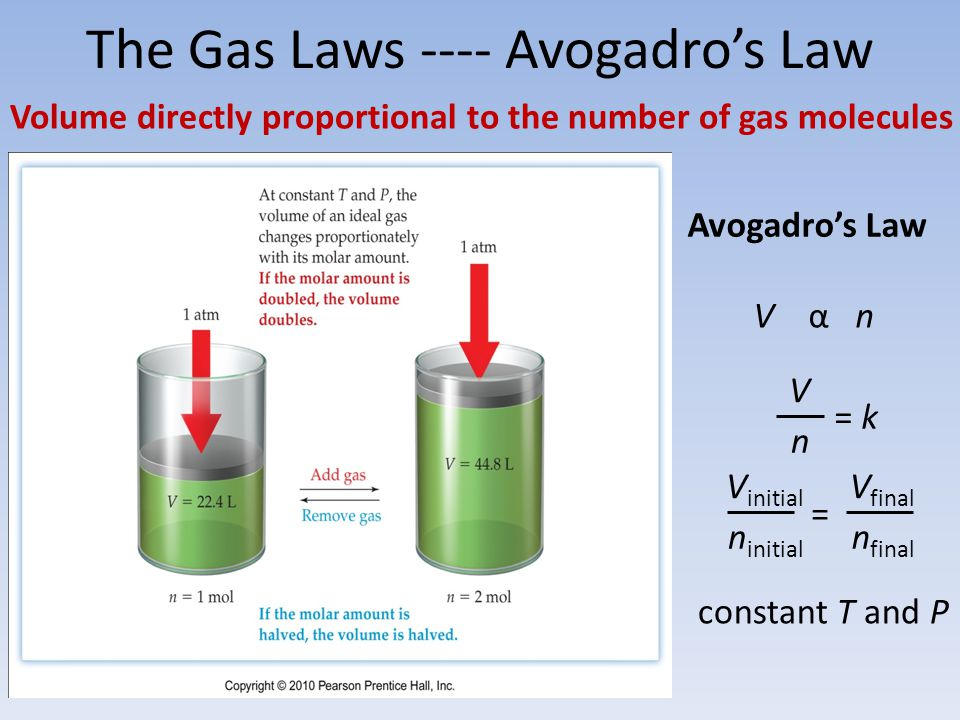 The Gas Laws ---- Avogadro's Law