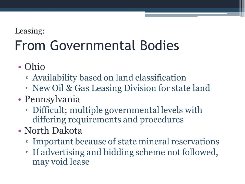 From Governmental Bodies