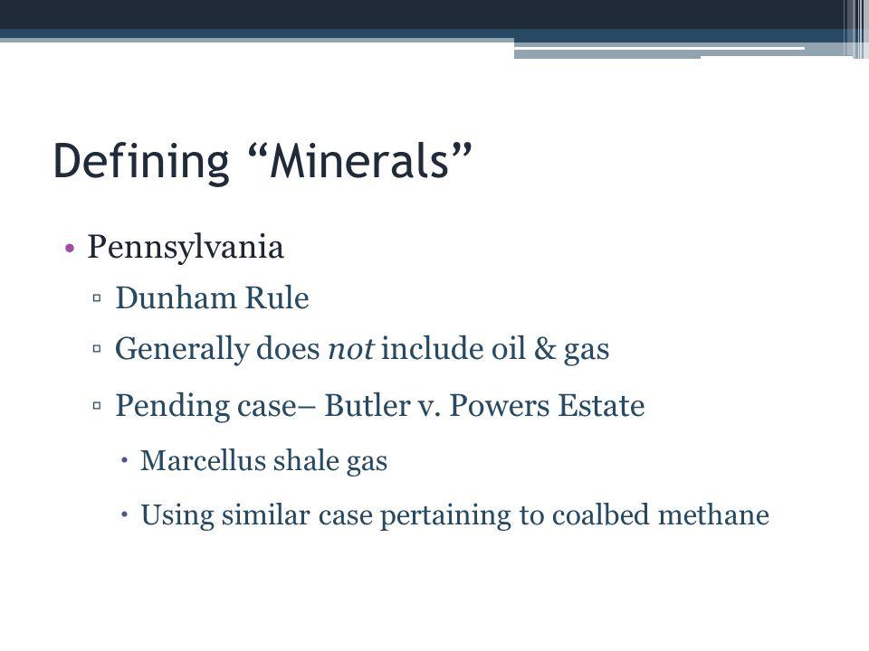 Defining Minerals Pennsylvania Dunham Rule