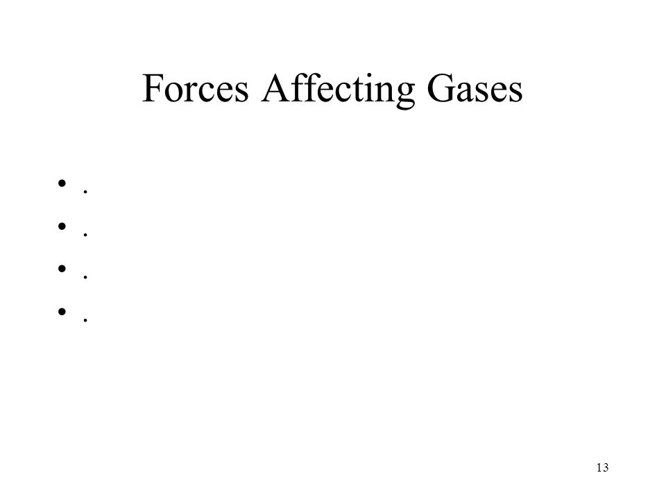 Forces Affecting Gases