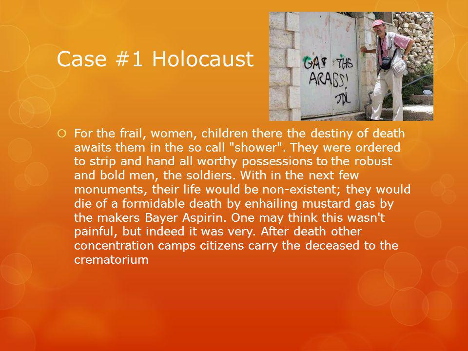 Case #1 Holocaust