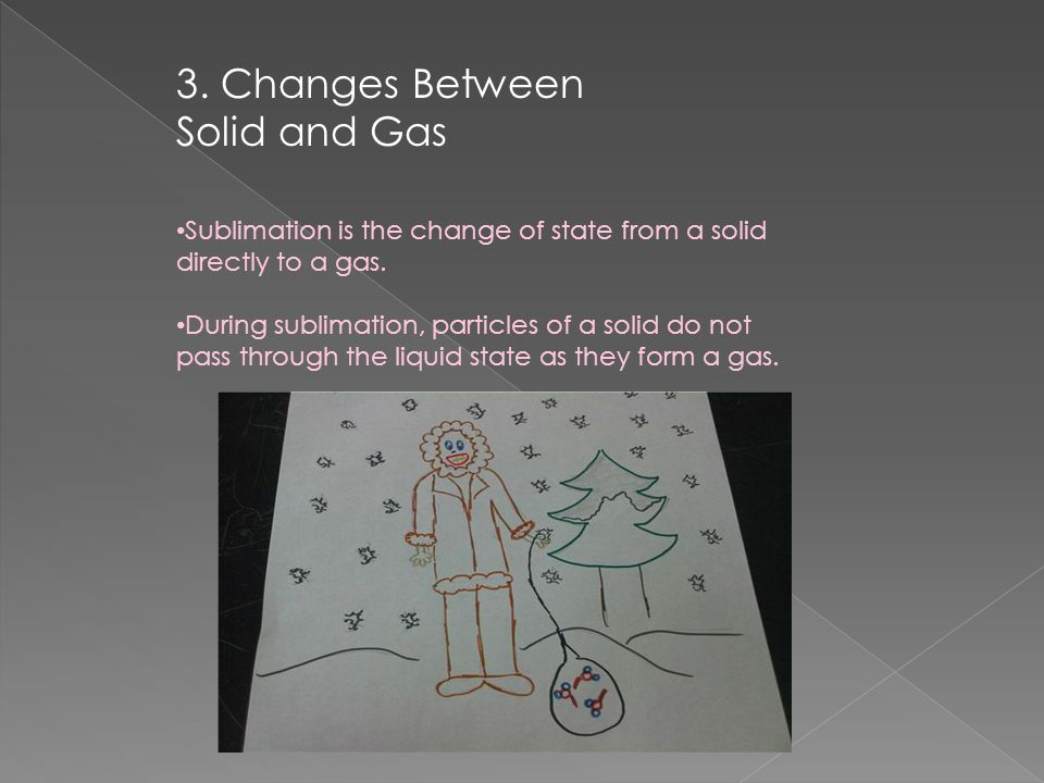 3. Changes Between Solid and Gas