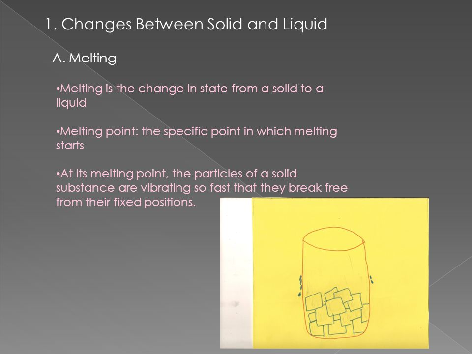 1. Changes Between Solid and Liquid