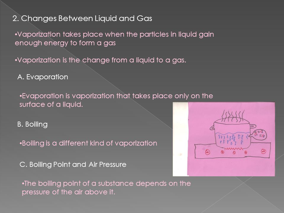 2. Changes Between Liquid and Gas
