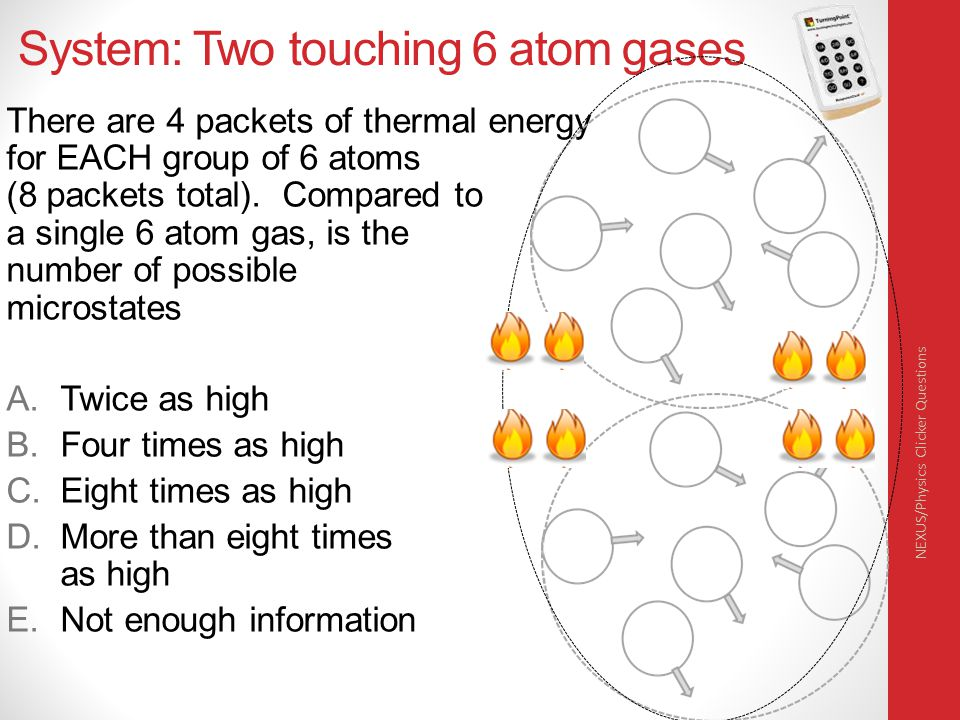 System: Two touching 6 atom gases