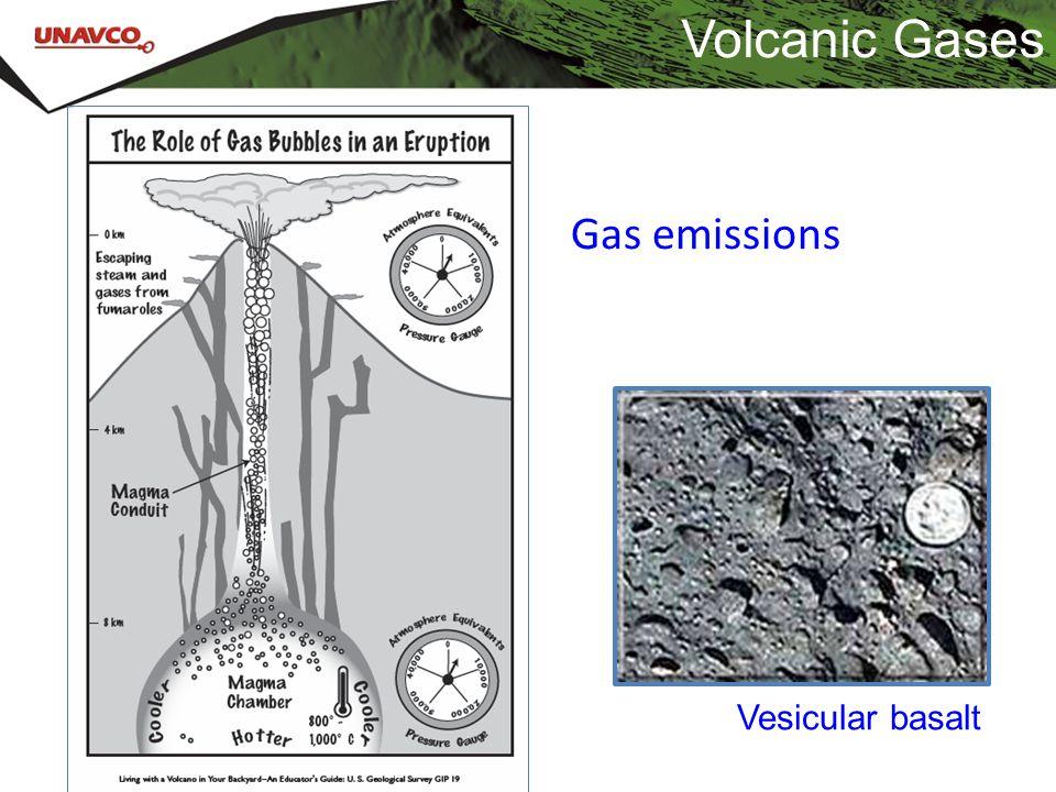 Volcanic Gases Gas emissions Vesicular basalt
