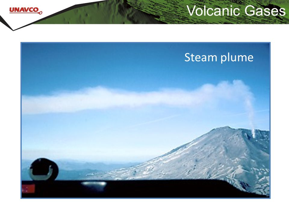Volcanic Gases Steam plume