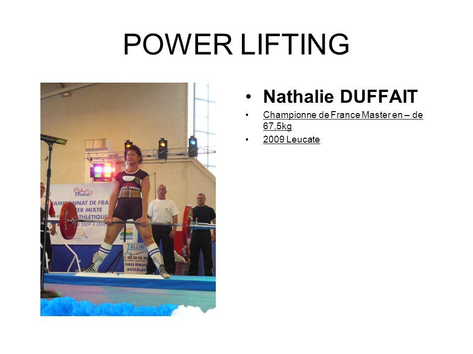 POWER LIFTING Nathalie DUFFAIT