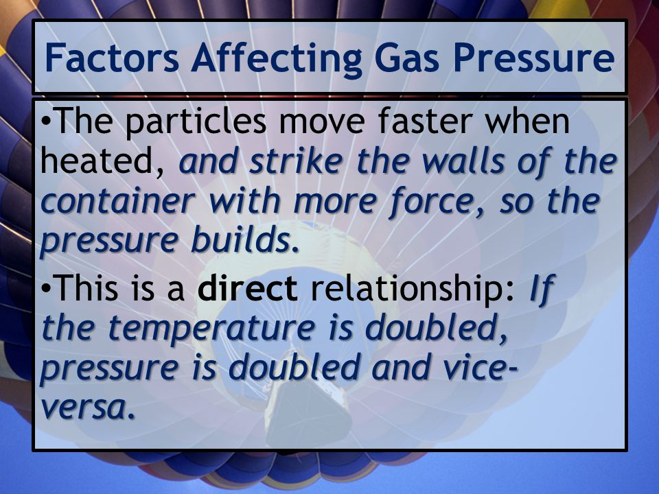 Factors Affecting Gas Pressure