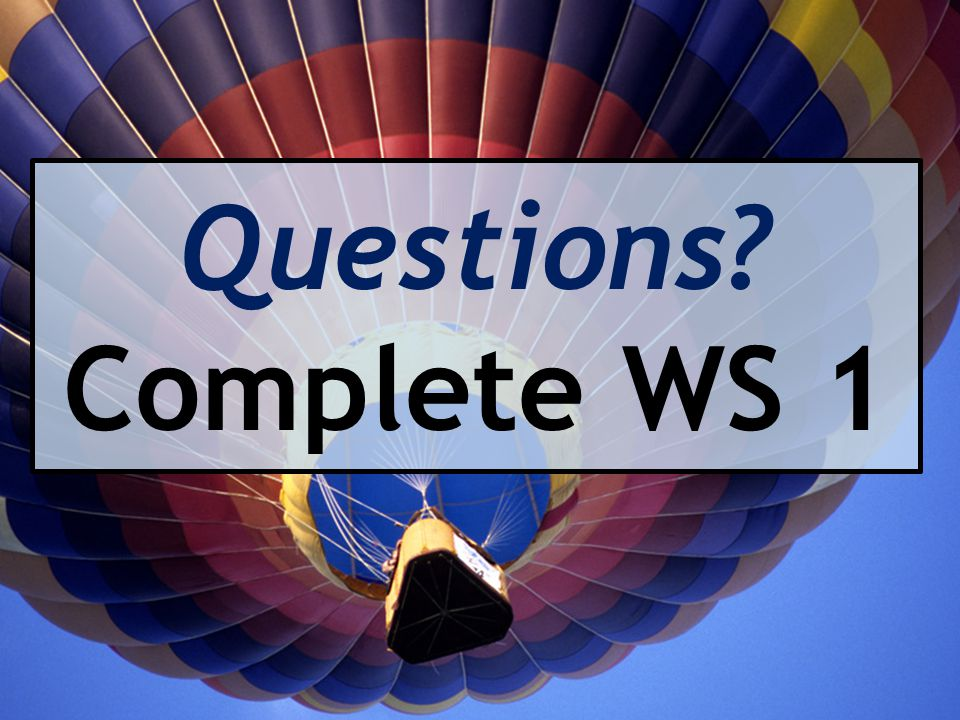 Questions Complete WS 1