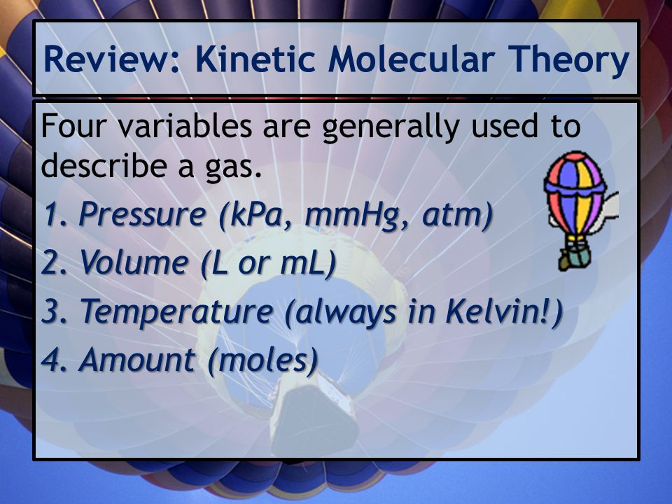 Review: Kinetic Molecular Theory