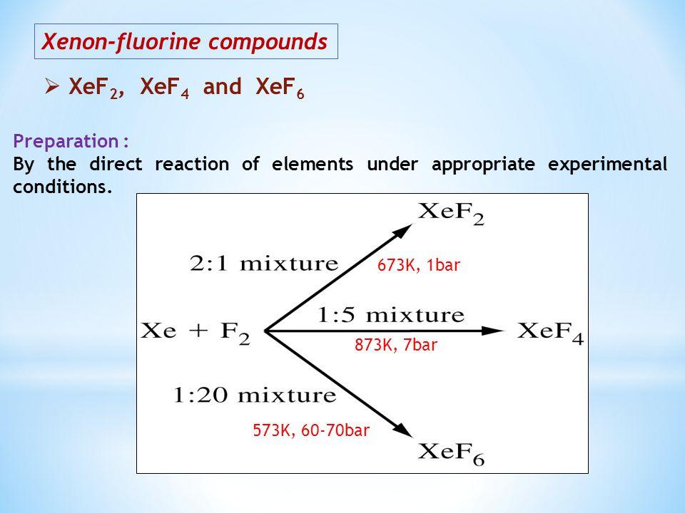 Xenon-fluorine compounds