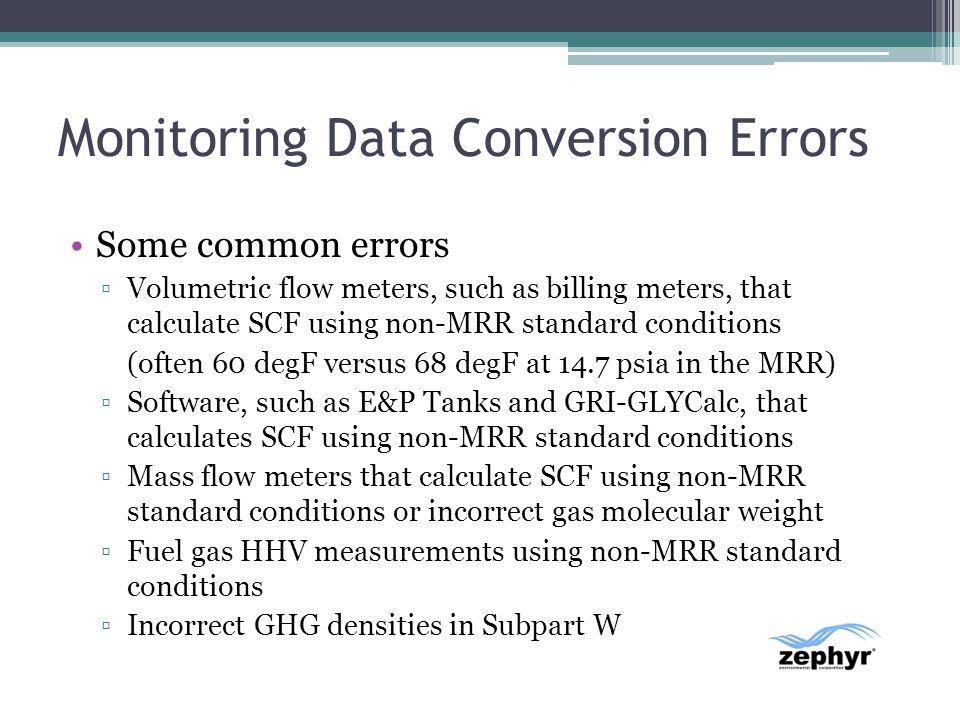 Monitoring Data Conversion Errors