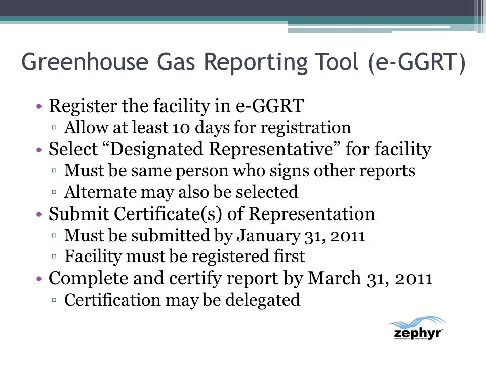 Greenhouse Gas Reporting Tool (e-GGRT)