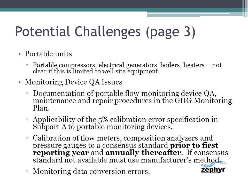 Potential Challenges (page 3)