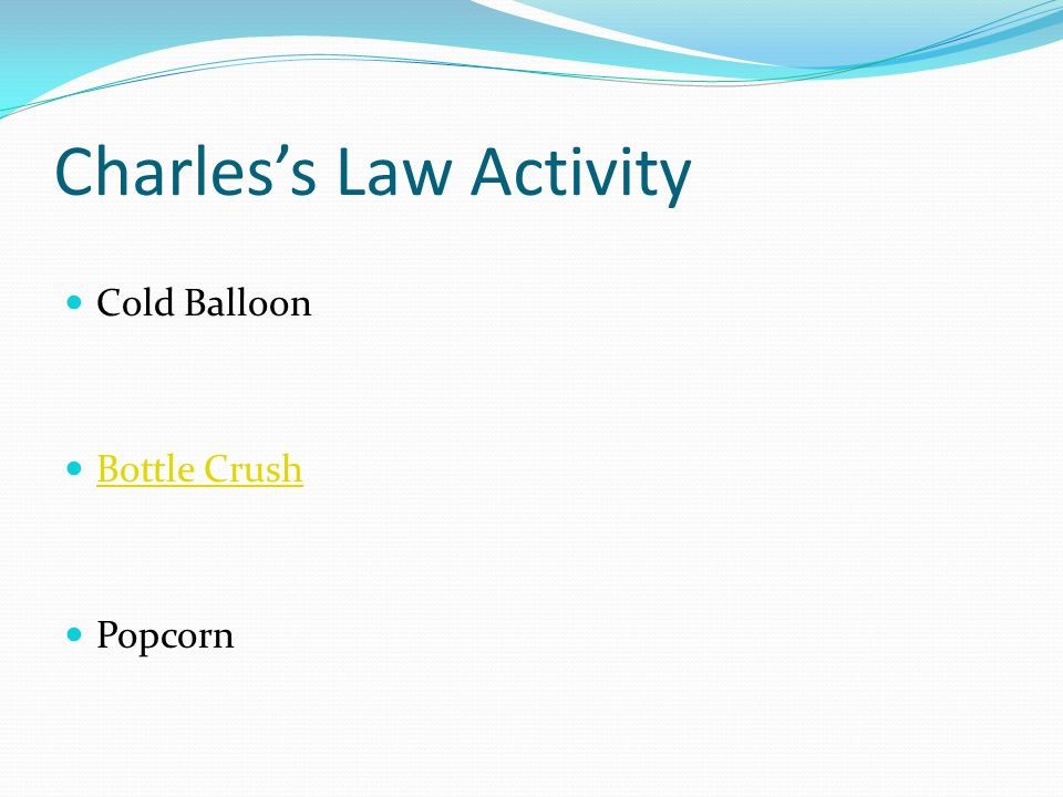 Charles's Law Activity