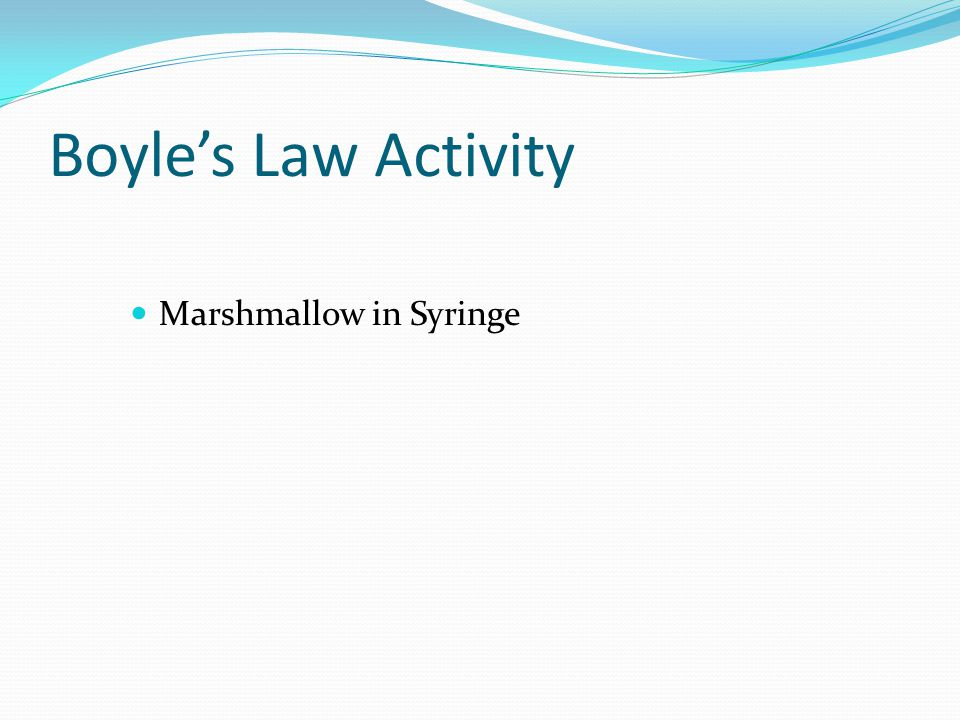 Boyle's Law Activity Marshmallow in Syringe
