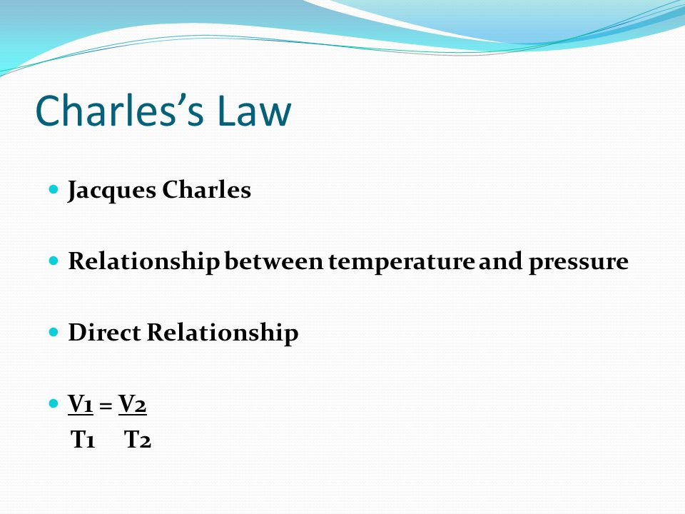 Charles's Law Jacques Charles