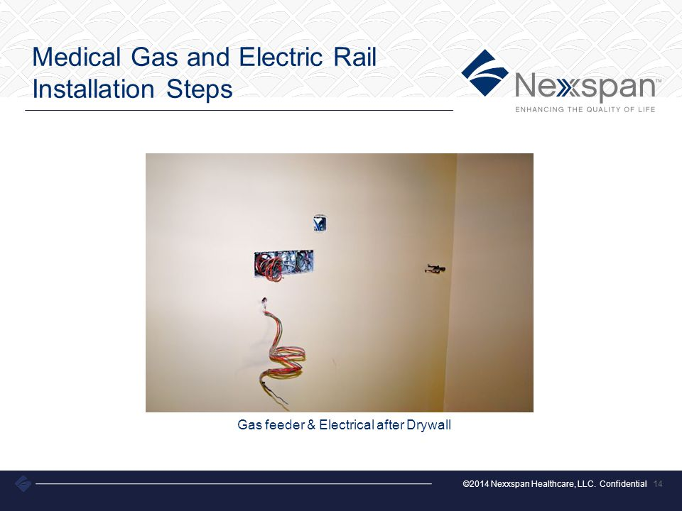 Medical Gas and Electric Rail Installation Steps
