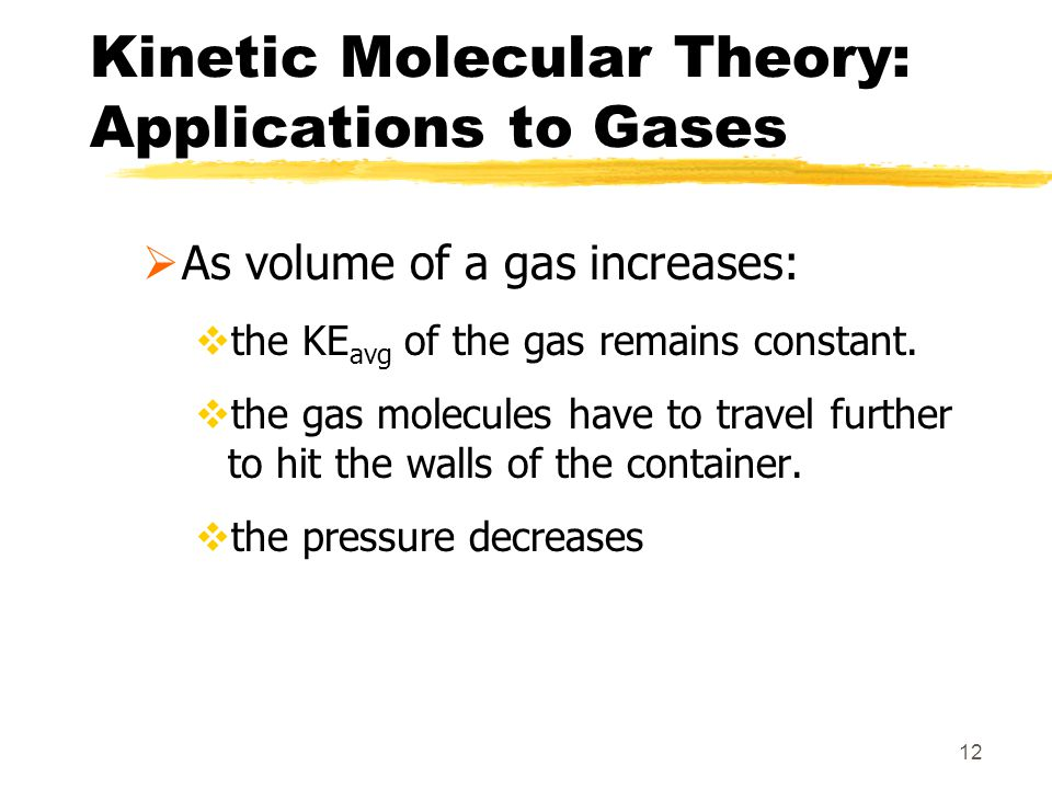 Kinetic Molecular Theory: Applications to Gases