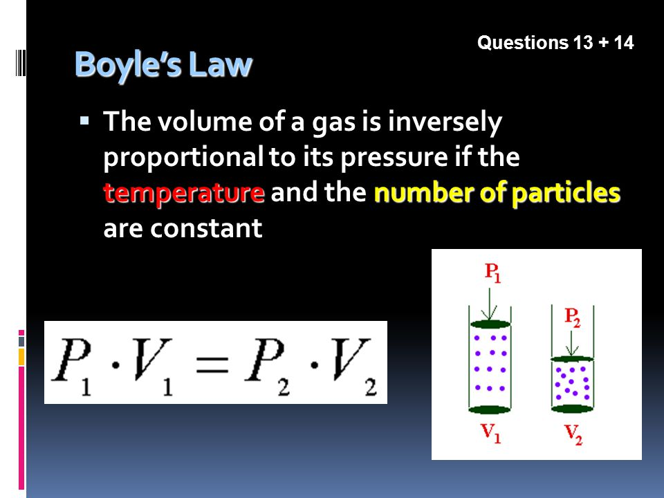 Questions Boyle's Law.