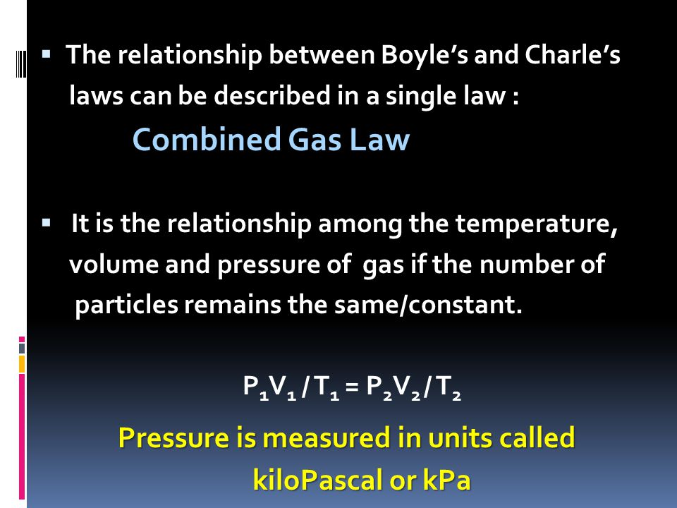 Pressure is measured in units called