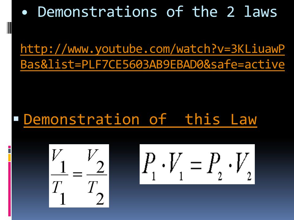 Demonstrations of the 2 laws   youtube. com/watch