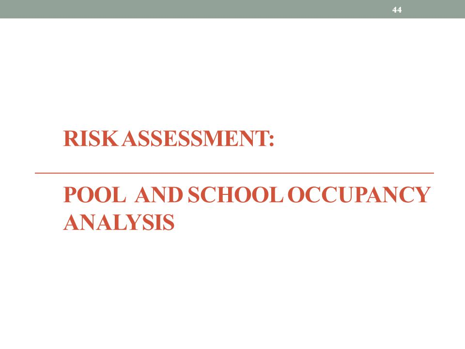 Risk Assessment: Pool and school occupancy analysis