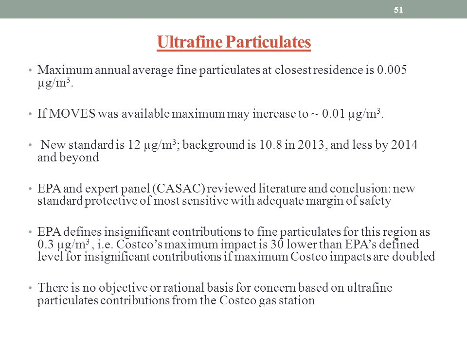Ultrafine Particulates
