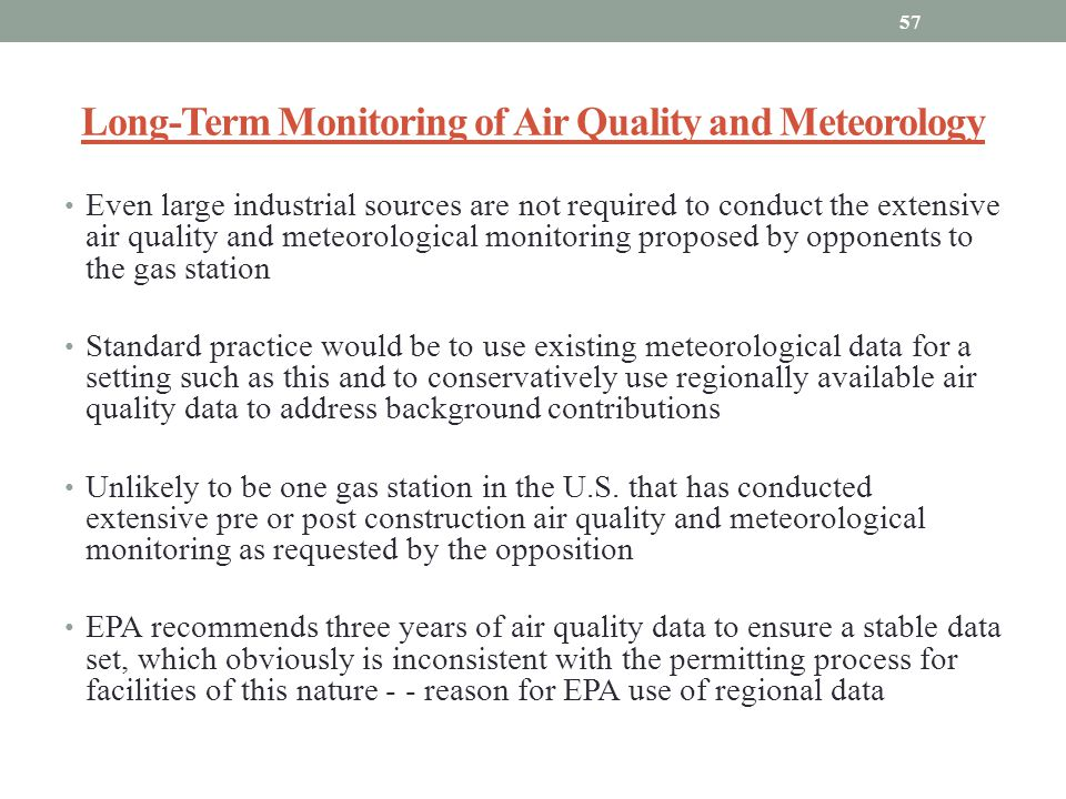 Long-Term Monitoring of Air Quality and Meteorology