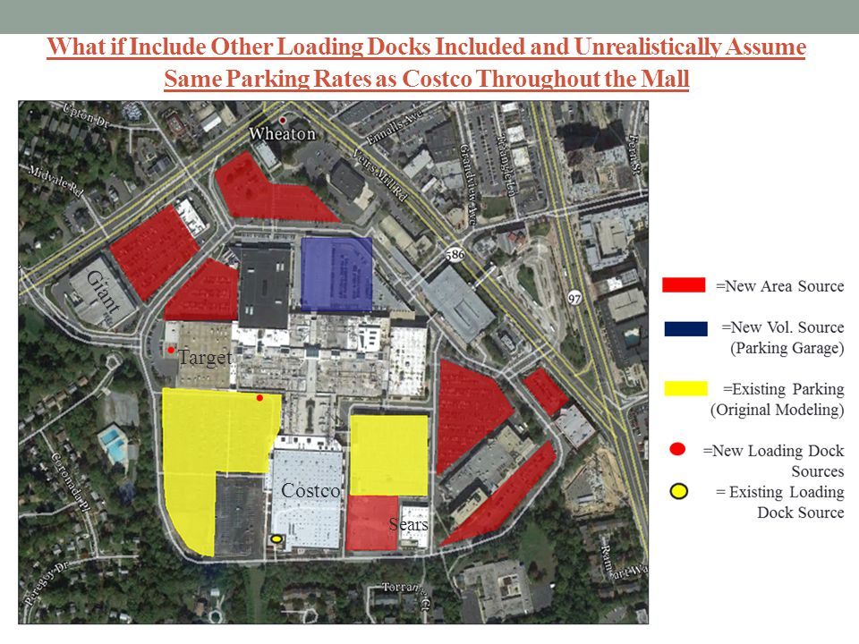 What if Include Other Loading Docks Included and Unrealistically Assume Same Parking Rates as Costco Throughout the Mall
