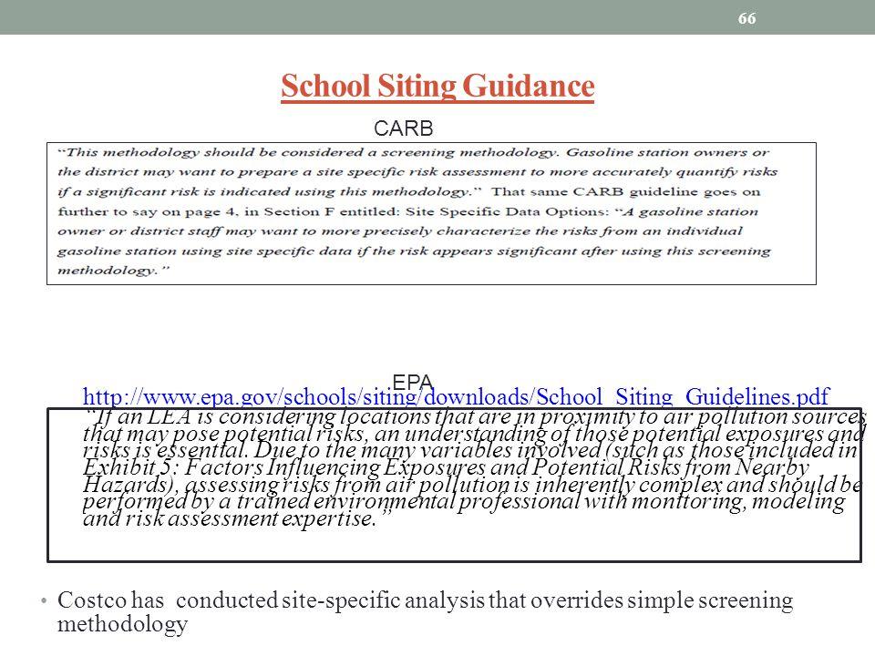 School Siting Guidance