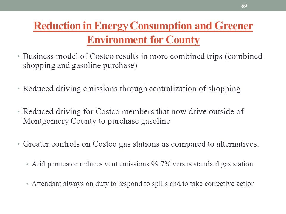 Reduction in Energy Consumption and Greener Environment for County