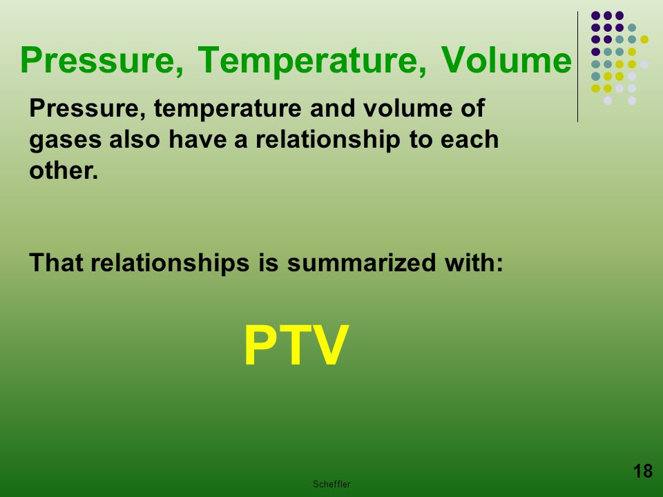 Pressure, Temperature, Volume