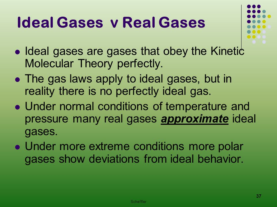 Ideal Gases v Real Gases