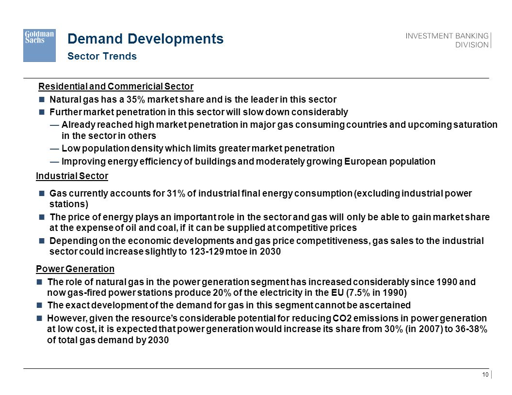 Demand Developments Sector Trends Residential and Commericial Sector