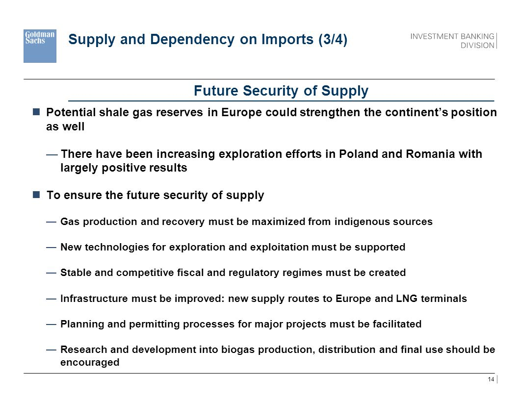 Supply and Dependency on Imports (3/4)