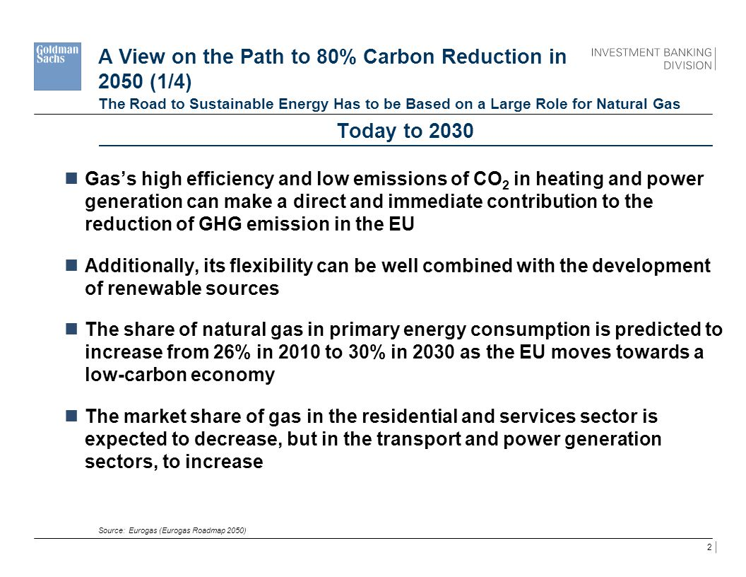 A View on the Path to 80% Carbon Reduction in 2050 (1/4)
