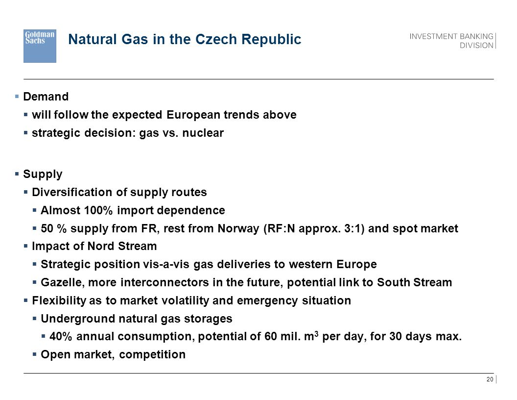 Natural Gas in the Czech Republic