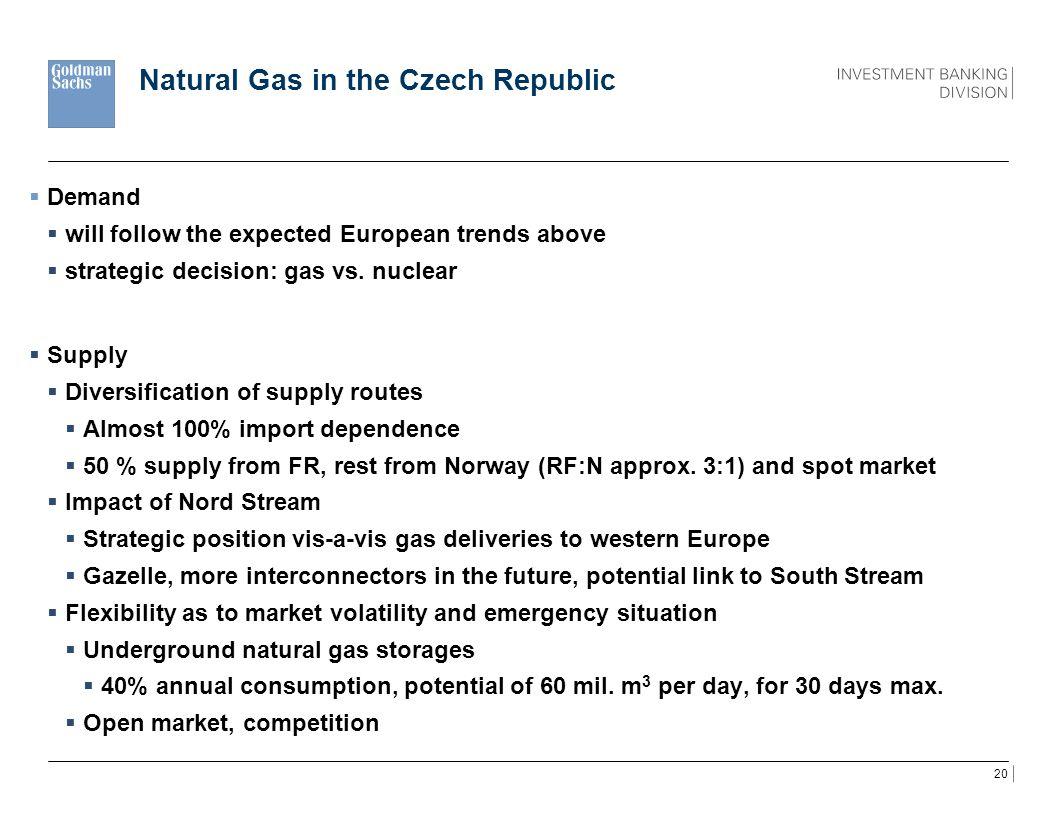 Natural Gas in the Czech Republic