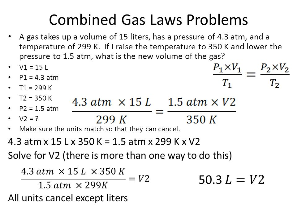 Combined Gas Laws Problems