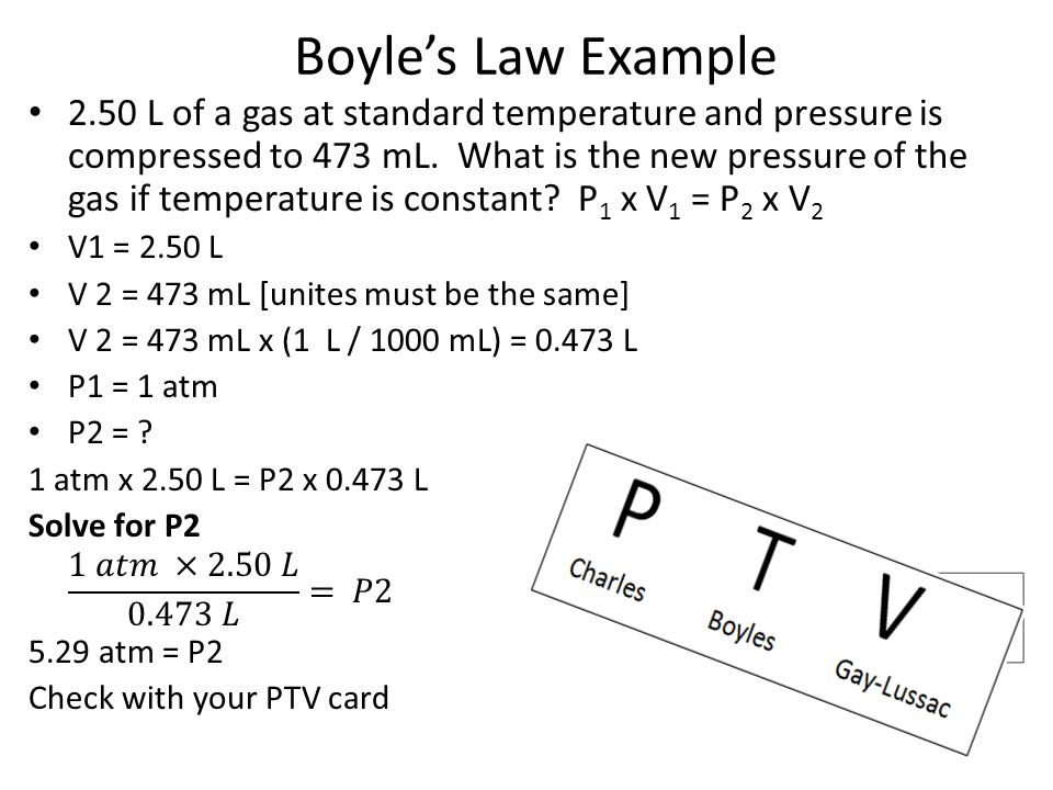Boyle's Law Example