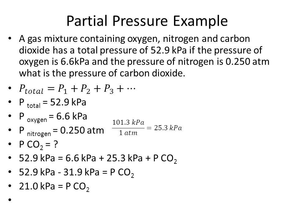 Partial Pressure Example